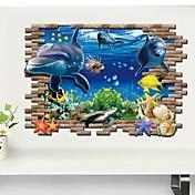 Animales 3D Pegatinas de pared Calcomanías 3D para Pared Calcomanías Decorativas de Pared, Vinilo Decoración hogareña Vinilos decorativos