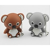 lindo modelo koala usb 2.0 suficiente memoria flash drive palo pluma 2gb