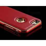용 아이폰6케이스 / 아이폰6플러스 케이스 도금 케이스 뒷면 커버 케이스 단색 하드 천연 가죽 iPhone 6s Plus/6 Plus / iPhone 6s/6