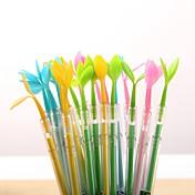 Bolígrafo Bolígrafo Plumas de gel Bolígrafo,Plástico Barril Negro colores de tinta For Suministros de la escuela Material de oficina