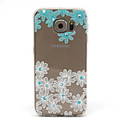 Funda Para Samsung Galaxy Funda Samsung Galaxy Transparente Diseños Funda Trasera Flor TPU para S6