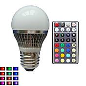 lm E26/E27 LED-globepærer A50 1 leds Høyeffekts-LED Mulighet for demping Dekorativ Fjernstyrt RGB AC 85-265V