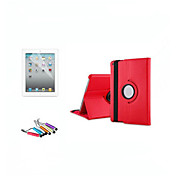 Etui Til Apple med stativ / Autodvale / aktivasjon / 360° rotasjon Heldekkende etui Ensfarget Hard PU Leather til iPad Air / iPad 4/3/2 / iPad Mini 3/2/1 / iPad (2017)