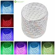 SENCART Fleksible LED-lysstriper 150 LED Varm hvit RGB Hvit Grønn Gul Blå Rød Fjernkontroll Kuttbar Mulighet for demping Vanntett