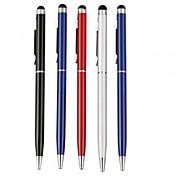 kinston® 5 x universal metall stylus touch screen penn klipp med kulepenn for iPhone / iPad / samsung og andre