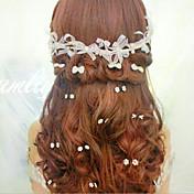 Mujer Acrílico Celada-Boda Ocasión especial Bandas de cabeza Flores 1 Pieza