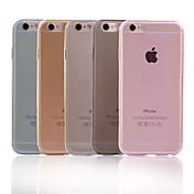 Funda Para Apple iPhone X iPhone 8 Plus iPhone 6 iPhone 6 Plus Ultrafina Transparente Funda Trasera Color sólido Suave TPU para iPhone X