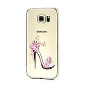 Etui Til Samsung Galaxy Samsung Galaxy Etui Inngravert Bakdeksel Sexy dame TPU til S6