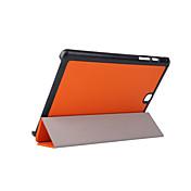 Funda Para Samsung Galaxy Tab Un 9,7 Funda Samsung Galaxy con Soporte Flip Origami Funda de Cuerpo Entero Color sólido Cuero de PU para
