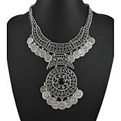 Mujer Flor Collares Declaración Y-Collares Piedras preciosas sintéticas Legierung Collares Declaración Y-Collares , Fiesta / Noche