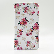 Para Samsung Galaxy Note Cartera / Soporte de Coche / con Soporte / Flip Funda Cuerpo Entero Funda Flor Cuero Sintético SamsungNote 5