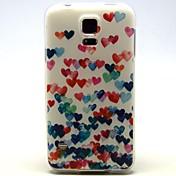 용 삼성 갤럭시 케이스 패턴 케이스 뒷면 커버 케이스 심장 TPU Samsung S5 Mini / S5 / S4 Mini / S4 / S3 Mini / S3