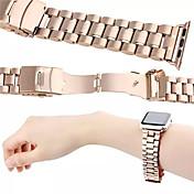 Reloj de la venda para el reloj de la manzana correa de muñeca del reloj del metal del acoplamiento del acero inoxidable 38m m