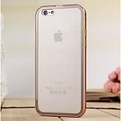 moshuo ™ metálica de protección de parachoques del marco con tapa trasera para el iphone 6 más (colores surtidos)