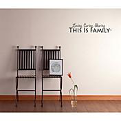 este es el hogar de la familia pegatinas de pared decorativos