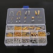 beadia hallazgos 1set joyería corchete de la langosta&tapa de extremo&anillos de salto&engarzado cuentas&cadena de