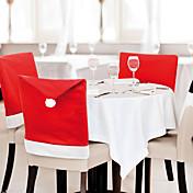 6 개 / 많은 산타 클로스 모자 의자 크리스마스 장식 부엌 식탁 장식 홈 파티를 커버