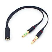 blcr® 3.5mm의 스테레오 미니 잭 (1) 여성이 남성 Y 스플리터 이어폰 오디오 케이블