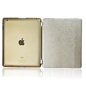 Etui Til iPad 4/3/2 med stativ Autodvale / aktivasjon Heldekkende etui Helfarge PU Leather til iPad 4/3/2