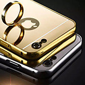 Etui Til Apple Etui iPhone 5 iPhone 6 iPhone 6 Plus iPhone 7 Plus iPhone 7 Belegg Speil Bakdeksel Helfarge Hard Akryl til iPhone SE/5s