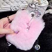lady®elegant / caja del teléfono de lujo para el iphone 6 más / 6s más (5,5 pulgadas), decorado con diamantes de camelia y el parachoques