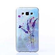 Para Funda Samsung Galaxy Diseños Funda Cubierta Trasera Funda Flor TPU Samsung J7