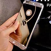Funda Para Apple iPhone 8 iPhone 8 Plus iPhone 6 iPhone 6 Plus iPhone 7 Plus iPhone 7 Diamantes Sintéticos Cromado Espejo Funda Trasera