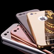 Funda Para Apple iPhone 6 iPhone 6 Plus Cromado Espejo Funda Trasera Color sólido Dura Metal para iPhone 6s Plus iPhone 6s iPhone 6 Plus