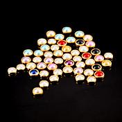 100 piezas de colores de perlas de metal uñas lipping decoraciones del arte