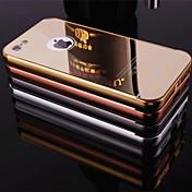 nuevo espejo chapado de vuelta con la caja del teléfono estructura de metal para 5c iphone (colores surtidos)
