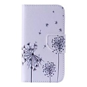 Etui Til Samsung Galaxy Samsung Galaxy Etui Kortholder Lommebok med stativ Flipp Mønster Heldekkende etui løvetann PU Leather til J5