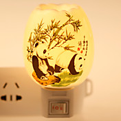 팬더 무늬 세라믹 램프 밤 빛 bdeside 램프 향기 축제 선물