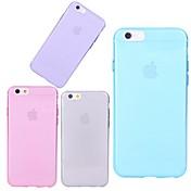Etui Til Apple iPhone X iPhone 8 iPhone 6 iPhone 6 Plus Gjennomsiktig Bakdeksel Helfarge Myk TPU til iPhone X iPhone 8 Plus iPhone 8
