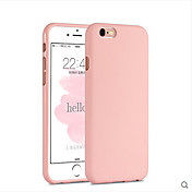 Funda Para Apple iPhone 6 iPhone 6 Plus Antigolpes Funda Trasera Color sólido Suave Silicona para iPhone 6s Plus iPhone 6s iPhone 6 Plus