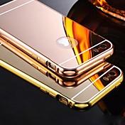 Funda Para iPhone 5 Apple Funda iPhone 5 Cromado Espejo Funda Trasera Color sólido Dura Acrílico para iPhone SE/5s iPhone 5