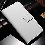 Para Samsung Galaxy Note Cartera / Soporte de Coche / con Soporte / Flip Funda Cuerpo Entero Funda Un Color Cuero Sintético Samsung Note 4