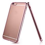Para Funda iPhone 6 / Funda iPhone 6 Plus Cromado / Ultrafina / Transparente Funda Cubierta Trasera Funda Un Color Suave TPUiPhone 6s