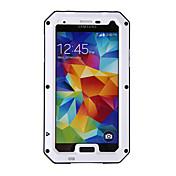 Redpepper Aluminum Alloy Gorilla Glass Waterproof Shockproof Case for Samsung Galaxy S5 - Black