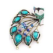 Mujer Broche - Vintage, Moda Broche Azul Para Fiesta / Casual