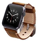 시계 밴드 Apple Watch Series 3 / 2 / 1 용 Apple 클래식 버클 천연 가죽 손목 스트랩