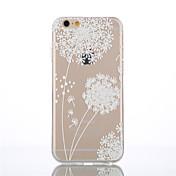 Para Funda iPhone 5 Carcasa Funda Transparente Diseños Cubierta Trasera Funda Diente de león Suave TPU para iPhone SE/5s iPhone 5