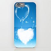 Etui Til Apple iPhone 6 iPhone 6 Plus Mønster Bakdeksel Hjerte Hard PC til iPhone 6s Plus iPhone 6s iPhone 6 Plus iPhone 6