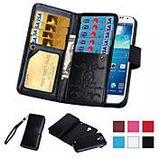 Etui Til Samsung Galaxy Samsung Galaxy Note Kortholder Lommebok Flipp Heldekkende etui Helfarge PU Leather til Note 5 Note 4 Note 3