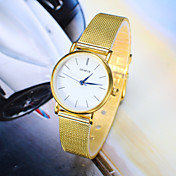 Mujer Reloj de Moda Cuarzo Aleación Banda Plata Dorado Plata Dorado