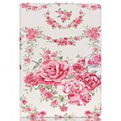Funda Para iPad Air 2 Soporte de Coche con Soporte Funda de Cuerpo Entero Flor Cuero de PU para iPad Air 2