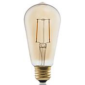 1pc ≥180 lm E26/E27 Bombillas de Filamento LED ST58 2 leds COB Decorativa Blanco Cálido AC 220-240V