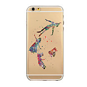 Funda Para Apple iPhone 6 iPhone 6 Plus Transparente Funda Trasera Caricatura Suave TPU para iPhone 7 Plus iPhone 7 iPhone 6s Plus iPhone