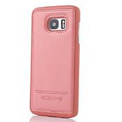 Para Samsung Galaxy S7 Edge En Relieve Funda Cubierta Trasera Funda Un Color Cuero Sintético SamsungS7 edge / S7 / S6 edge plus / S6 edge