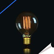 1pc 40W E27 E26/E27 E26 G80 K Bombilla incandescente Vintage Edison AC 110-130V AC 220-240V V