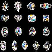 5 Nail Art Decoración Las perlas de diamantes de imitación maquillaje cosmético Nail Art
